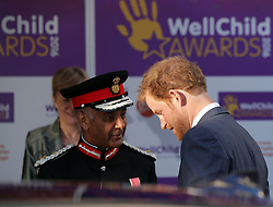 Prince Harry (right) attends the WellChild Awards at The Dorchester Hotel in London, where he will commend the courage of seriously ill children and their families.