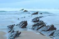 Rocky peaks and sea, coast in the Basque Country, Spain<br /> <br /> Felszacken und Meer