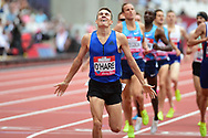 Chris O'Hare (GBR celebrates his 1500m Men win during the Muller Anniversary Games at the London Stadium, London, England on 9 July 2017. Photo by Jon Bromley.