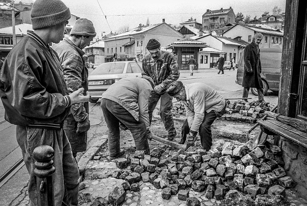 Siege of Sarajevo (1992-96) Exact figures of casualties are still disputed but it is estimated that approx. 19,000 people died, 10% of them children.<br /> <br /> 18,000 Serbian troops stationed in the hills surrounding city, besieged the 340,000 citizens with its constant artillery, mortar,  sniper rifles and heavy machine-gun fire. <br /> <br /> Aside from the human cost of war, the cities infrastructure  also suffered greatly - buildings, roads, waterworks, power supplies. A recent report suggests that the Serb forces caused an estimated $18.5billion of damage.