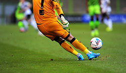 Scott Brown of Port Vale kicks the match ball- Mandatory by-line: Nizaam Jones/JMP - 16/01/2021 - FOOTBALL - innocent New Lawn Stadium - Nailsworth, England - Forest Green Rovers v Port Vale - Sky Bet League Two