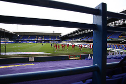 A general view of the stadium as Accrington Stanley warm up - Mandatory by-line: Arron Gent/JMP - 16/10/2020 - FOOTBALL - Portman Road - Ipswich, England - Ipswich Town v Accrington Stanley - Sky Bet League One-