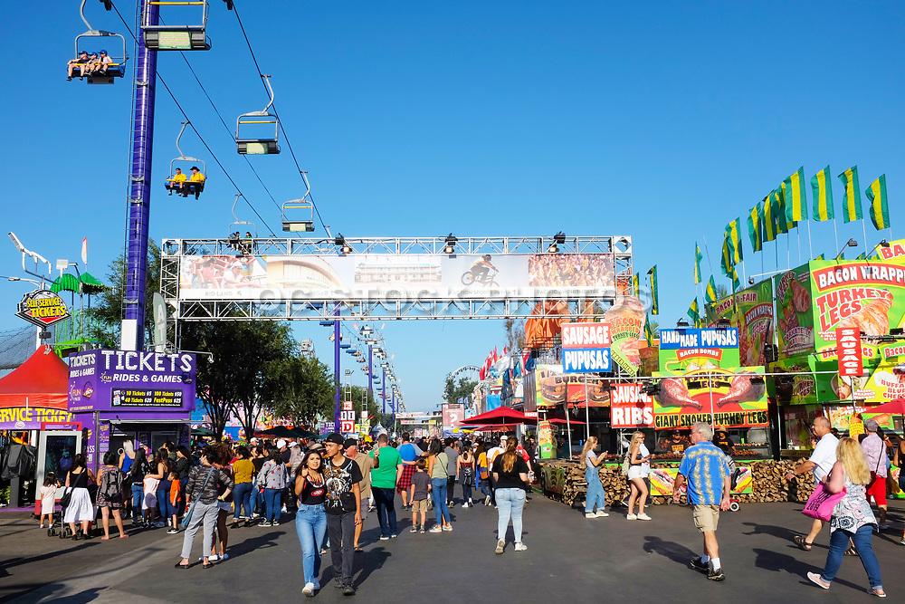 Orange County Fair Crowd Walking Around