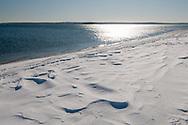 Winter, Snow, Cedar Beach, Southold, NY