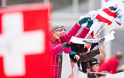 19.02.2016, Olympiaeisbahn Igls, Innsbruck, AUT, FIBT WM, Bob und Skeleton, Damen, Skeleton, 1. Lauf, im Bild Fans // Supporter competes during women Skeleton 1st run of FIBT Bobsleigh and Skeleton World Championships at the Olympiaeisbahn Igls in Innsbruck, Austria on 2016/02/19. EXPA Pictures © 2016, PhotoCredit: EXPA/ Johann Groder