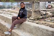 _________, Nepali volunteer from the Tikabhairav group, Tikabhairav, Karyabinayak,  Nepal. ICS / Restless Development volunteers in the Dakshinkali region of Nepal. (© Andy Aitchison / ICS)