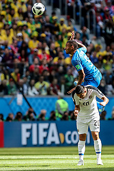 June 22, 2018 - Sao Petesburgo, Vazio, Russia - David Guzman and Gabriel Jesus of Brasil  during the match between Brazil and Costa Rica for the second round of group E of the 2018 World Cup, held at Saint Petersburg Stadium, St. Petersburg, Russia. Game ended scoreless. (Credit Image: © Thiago Bernardes/Pacific Press via ZUMA Wire)