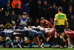Cardiff Blues' Lloyd Williams prepares to put into the scrum - Mandatory by-line: Craig Thomas/Replay images - 31/12/2017 - RUGBY - Cardiff Arms Park - Cardiff , Wales - Blues v Scarlets - Guinness Pro 14