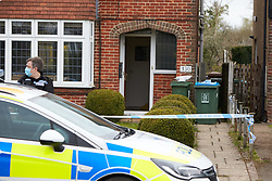 © Licensed to London News Pictures. 07/04/2021. WENDOVER, UK.  General view of the scene on Aylesbury Road following a murder at around 5:30pm yesterday (Tue). A 77 year old man died after sustaining serious injuries inside a house. A 36 year old man has been arrested.  ***House number visible.*** Photo credit: Cliff Hide/LNP