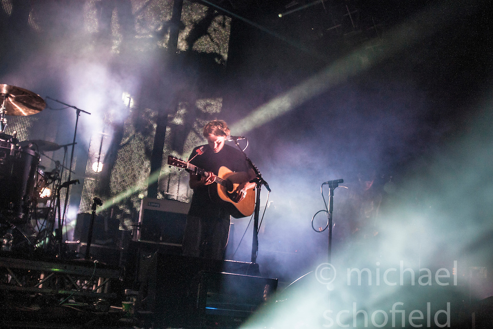 """Ben Howard plays the Goldenvoice Arena. Sunday, Rockness 2013, the annual music festival which took place in Scotland at Clune Farm, Dores, on the banks of Loch Ness, near Inverness in the Scottish Highlands. The festival is known as """"the most beautiful festival in the world""""."""