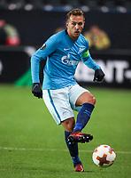 TRONDHEIM, NORWAY - NOVEMBER 02, 2017. UEFA Europa League, round 4: Rosenborg BK (Norway) 1-1 Zenit St Petersburg (Russia). Zenit St Petersburg's Domenico Criscito.