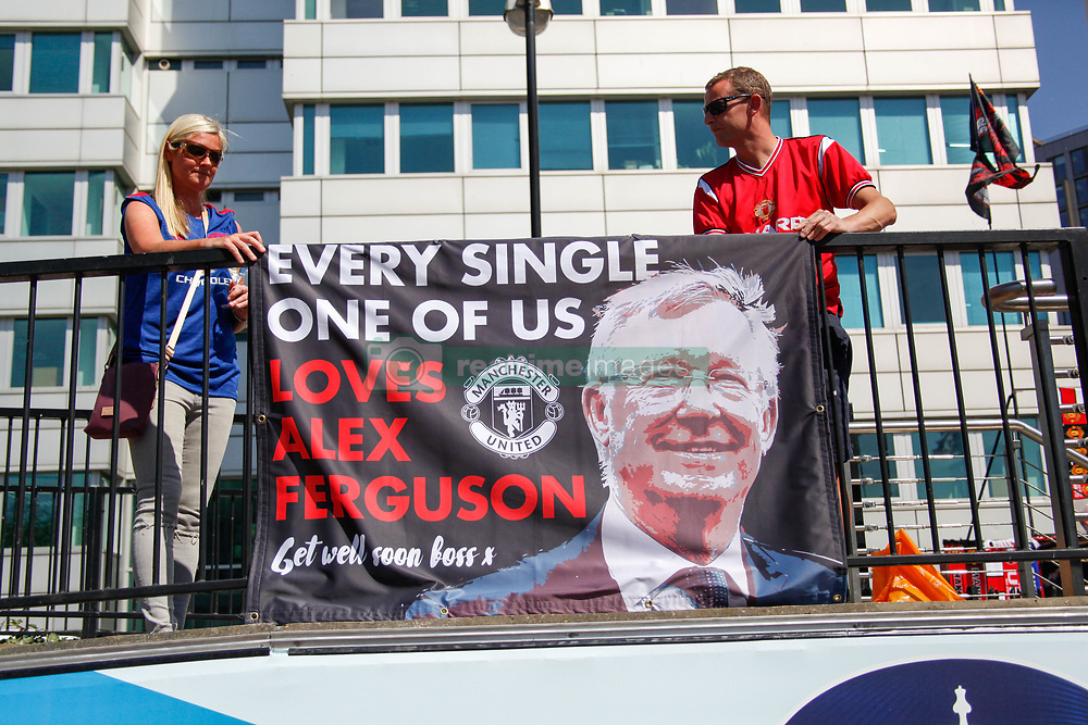 May 19, 2018 - London, England, United Kingdom - Banner for Sir Alex Ferguson at Wembley Stadium  attend The Emirates FA Cup Final between Chelsea and Manchester United at Wembley Stadium on May 19, 2018 in London, England. (Credit Image: © Alex Cavendish/NurPhoto via ZUMA Press)