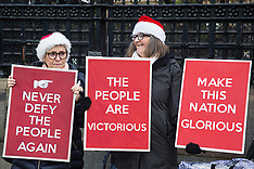 2019-12-20 Brexit supporters gather as Withdrawal Bill is debated in Parliament