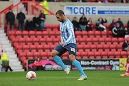 Coventry City striker Marcus Tudgay scores the second goal during the Sky Bet League 1 match between Swindon Town and Coventry City at the County Ground, Swindon, England on 24 October 2015. Photo by Jemma Phillips.