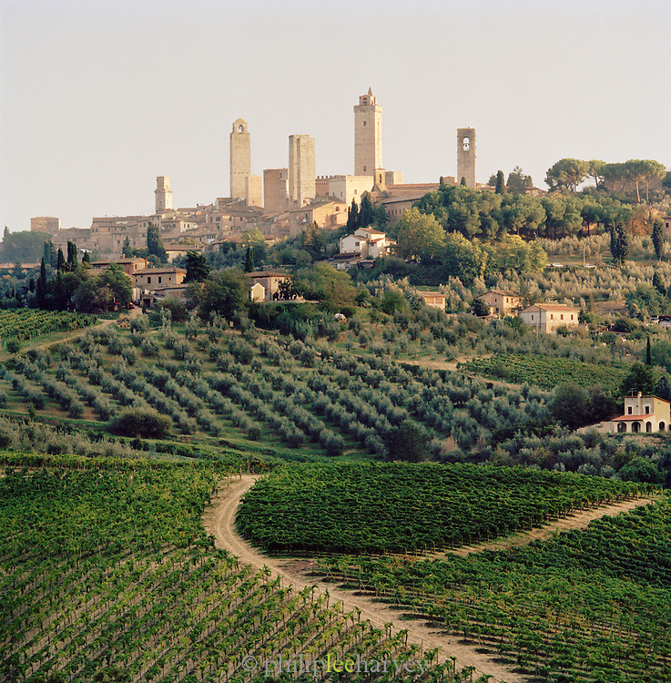 San Gimignano, a UNESCO World Heritage Site in Tuscany, Italy.