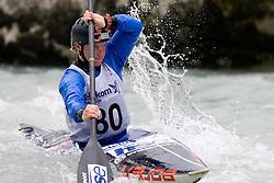 Nina Mozetic of Kajak klub Soske elektrarne competes in the Women's Kayak K-1 at kayak & canoe slalom race on May 9, 2010 in Tacen, Ljubljana, Slovenia. (Photo by Vid Ponikvar / Sportida)