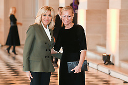 French President's wife Brigitte Macron welcomes Georgia's President wife Maka Chichua as they take part in a spousal event at the Chateau de Versailles in Versailles, near Paris, on November 11, 2018 as part of commemorations marking the 100th anniversary of the 11 November 1918 armistice, ending World War I. Photo By Laurent Zabulon/ABACAPRESS.COM