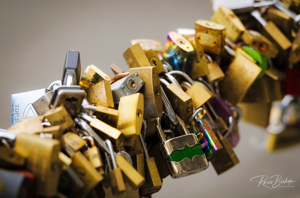 Love locks, Florence, Tuscany, Italy