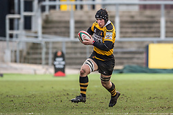 Newport's Kyle Tayler in action - Mandatory by-line: Craig Thomas/Replay images - 04/02/2018 - RUGBY - Rodney Parade - Newport, Wales - Newport v Ebbw Vale - Principality Premiership