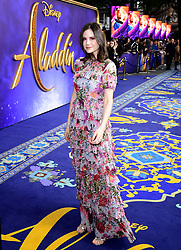 Lilah Parsons attending the Aladdin European Premiere held at the Odeon Luxe Leicester Square, London.