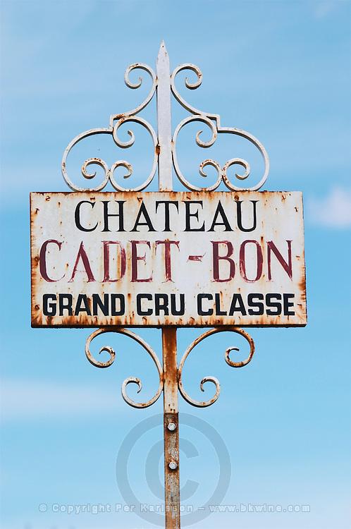 chateau cadet bon saint emilion bordeaux france