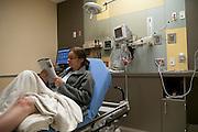 Faith D'Aluisio with broken leg, Napa Valley, CA
