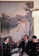 President Jim Carter toasts President Carlos Perez at a dinner at La Casona in  Caracas, Venezuela on March 28, 1978<br /> Photo by Dennis Brack