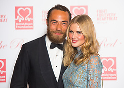 James Middleton and Donna Air attending the British Heart Foundation's Roll Out The Red Ball fundraiser at The Park Lane Hotel, Piccadilly, London.