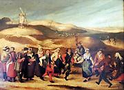 Painting called 'Peasants Dancing' 1614. Abel Grimmer