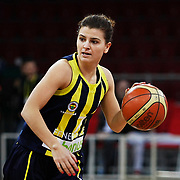 Fenerbahce's Birsel VARDARLI during their EuroLeague Women Basketball League game 2 match Galatasaray MP between Fenerbahce at the Abdi Ipekci Arena in Istanbul at Turkey on Friday, February, 05, 2011. Photo TURKPIX