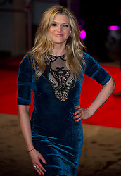 Anna Williamson  arrives for the Run For Your Wife - UK film premiere Odeon -Leicester Sq- London Brit comedy about a happily married man - with two wives, Tuesday  February 5, 2013. Photo: Andrew Parsons / i-Images