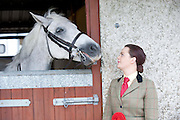 Emma O Toole with Cashelbay Joe  at the 90th Connemara Pony show in Clifden Co. Galway. Photo:Andrew Downes