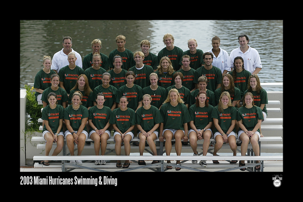 2003 Miami Hurricanes Swimming & Diving Team Photo