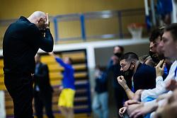 Robi Ribežl of Zlatorog Lasko during basketball match between GGD Sencur and Zlatorog Lasko in First Round of 1. SKL 2020/21, on October 31, 2020 in Sport hall Sencur, Sencur, Slovenia. Photo by Grega Valancic / Sportida