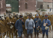 Colorized photographs soldiers from the World War One<br /> <br /> With his impressive colorized photographs of the World War One, Frédéric Duriez gives us a new look at the conflict that ravaged the world between 1914 and 1918, revealing the difficult daily life of the French soldiers. <br /> <br /> Photo Shows: French Senegalese troops acquainted with their new gas mask<br /> ©Frédéric Duriez/Exclusivepix Media