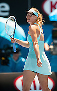 Maria Sharapova (RUS) defeated K. Knapp (ITA) 6-3, 4-6, 10-8 at Melbourne's Rod Laver Arena in Day 4 of the 2014 Australian Open.