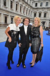 Left to right, AMANDA ELIASCH, her son and LADY BELL at the Royal Academy of Arts Summer Party held at Burlington House, Piccadilly, London on 3rd June 2009.
