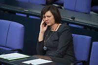 22 FEB 2013, BERLIN/GERMANY:<br /> Ilse Aigner, CSU, Verbraucherschutzministerin, waehrend der Bundestagsdebatte zum Verbraucherschutz, Plenum, Deutscher Bundestag<br /> IMAGE: 20130222-01-026