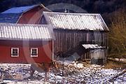 Winter, rural small farm, NE PA