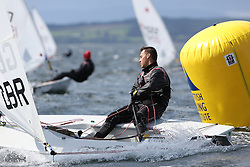 Day 4 NeilPryde Laser National Championships 2014 held at Largs Sailing Club, Scotland from the 10th-17th August.<br /> <br /> 192539, Oliver WILDE<br /> <br /> Image Credit Marc Turner