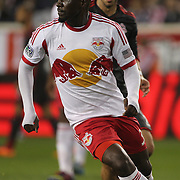 Ibrahim Sekagya, New York Red Bulls, in action during the New York Red Bulls Vs Toronto FC, Major League Soccer regular season match at Red Bull Arena, Harrison, New Jersey. USA. 11th October 2014. Photo Tim Clayton