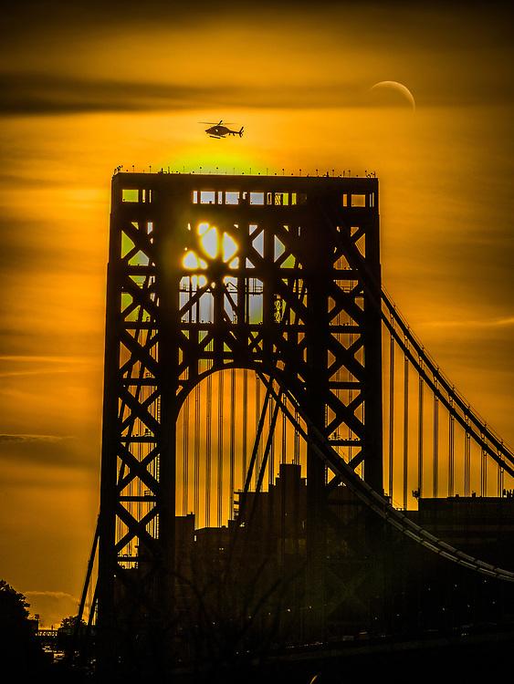 George Washington Bridge at sunset