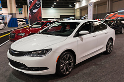CHARLOTTE, NC, USA - November 11, 2015: Chrysler 200S sports sedan on display during the 2015 Charlotte International Auto Show at the Charlotte Convention Center in downtown Charlotte.