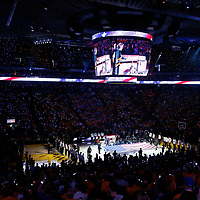 04 June 2017: Carlos Santana performs the National Anthem, prior to the Golden State Warriors 132-113 victory over the Cleveland Cavaliers, in game 2 of the 2017 NBA Finals, at the Oracle Arena, Oakland, California, USA.