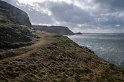 Trail path, for walks in Holyhead Breakwater Country Park on the coast of Holyhead, Anglesey, North Wales, United Kingdom.20th February 2020. The country park opened in 1990 and is on the site of an old stone quarry.  (photo by Andrew Aitchison / In pictures via Getty Images)