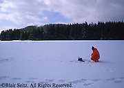 Ice fishing, Hills Creek State Park, Wellsboro, PA