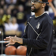Central Florida guard Marcus Jordan (5) shoots before a Conference USA NCAA basketball game between the Rice Owls and the Central Florida Knights at the UCF Arena on January 22, 2011 in Orlando, Florida. Rice won the game 57-50 and extended the Knights losing streak to 4 games.  (AP Photo/Alex Menendez)