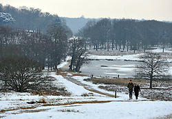 © Licensed to London News Pictures. 10/02/2012, Richmond, UK. People enjoy the snow in Richmond Park in West London today 10 February 2012. The cold weather across the UK is set to continue over the weekend.  Photo credit : Stephen Simpson/LNP