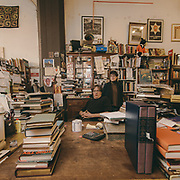 Carl Ashford and Amanda Lynch are photographed at Jackson Street Booksellers for The Encounter Magazine.