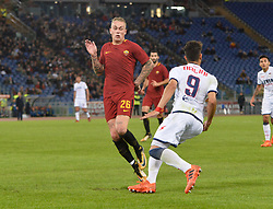 October 25, 2017 - Italy - Rick Karsdorp during the Italian Serie A football match between A.S. Roma and F.C. Crotone at the Olympic Stadium in Rome, on october 25, 2017. (Credit Image: © Silvia Lor/Pacific Press via ZUMA Wire)